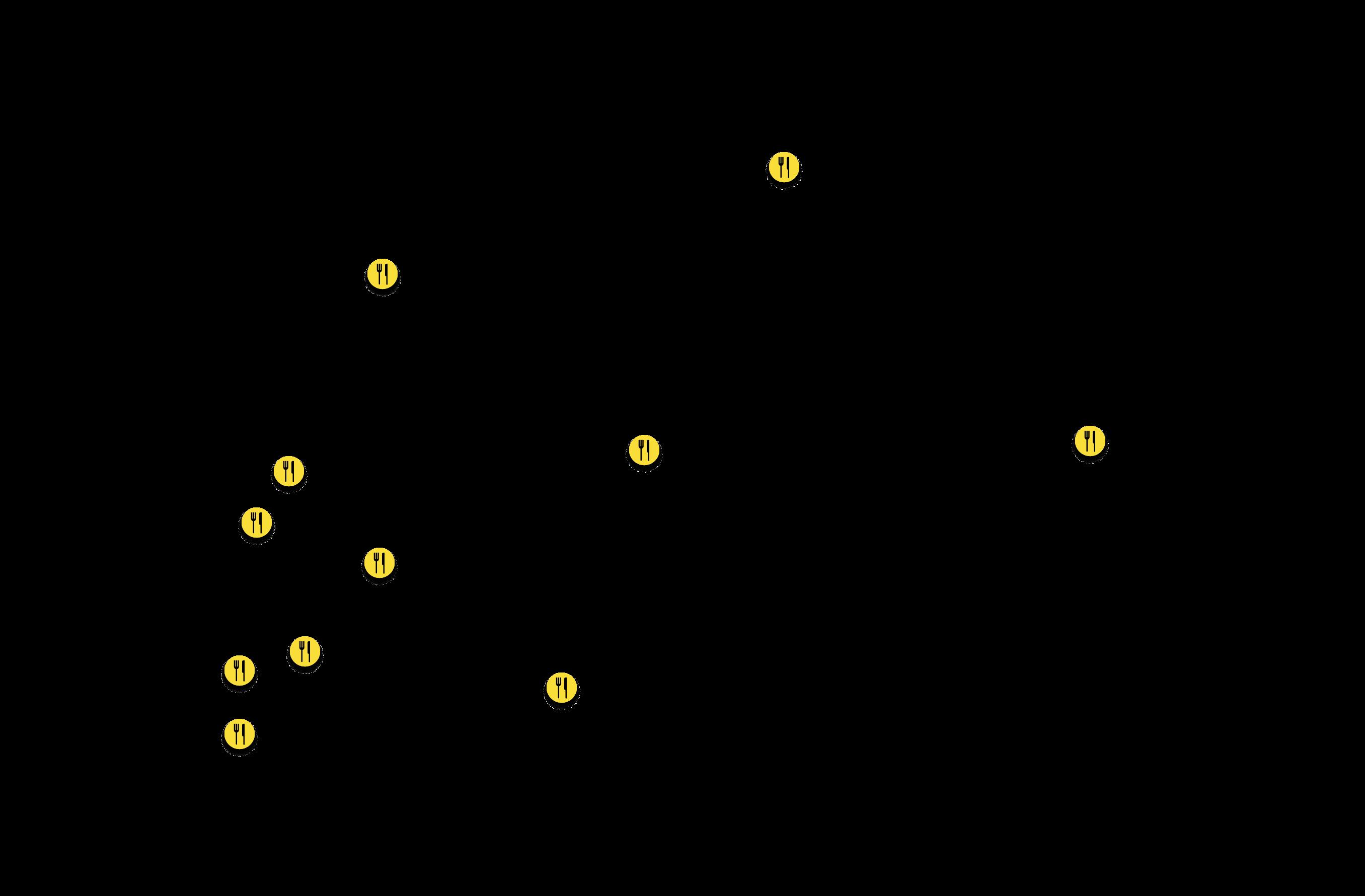 Restaurants & Cafés térkép