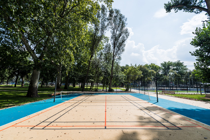 Volleyball, badminton and foot tennis court