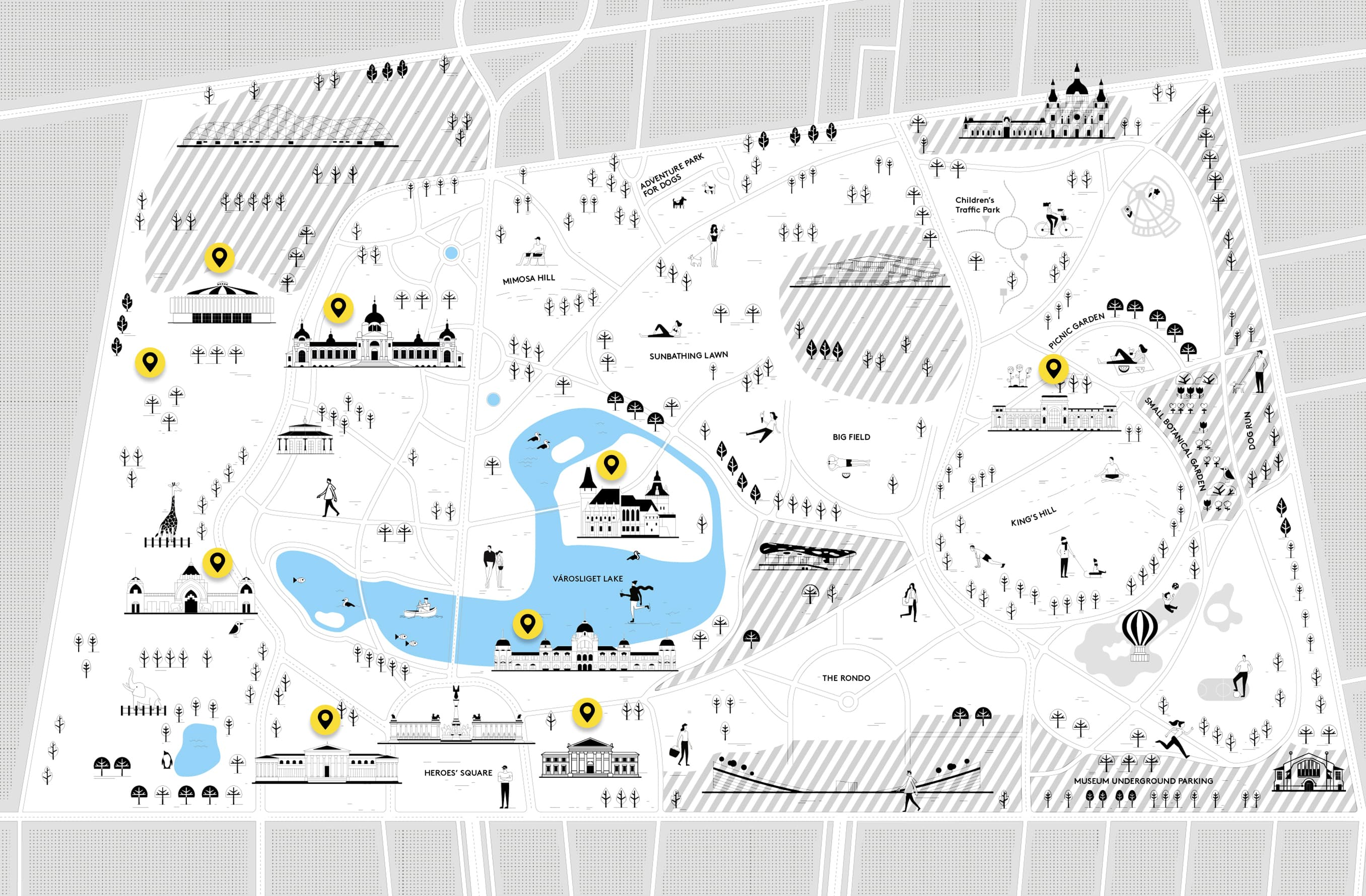 Institutions térkép