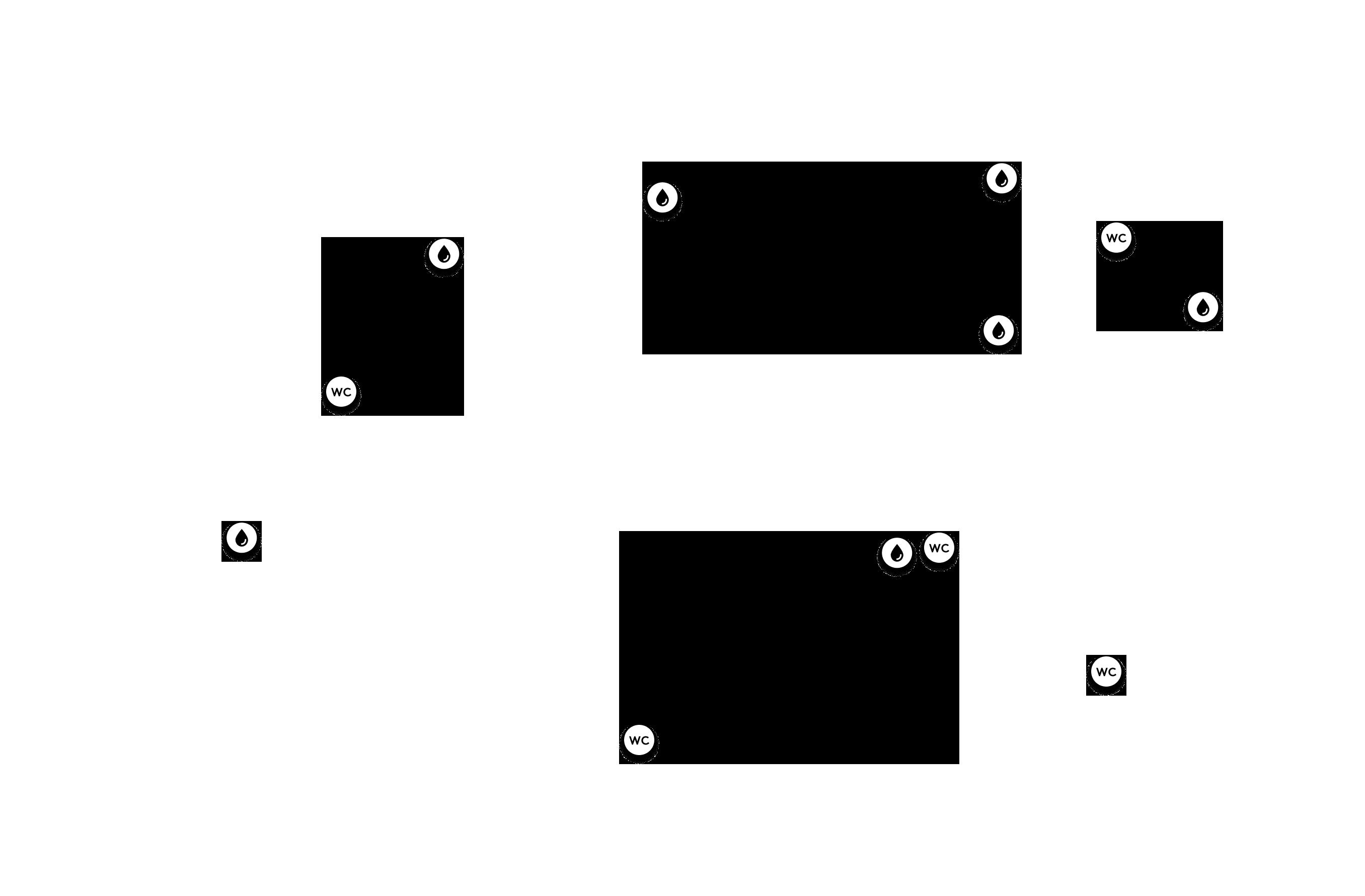 Ivókutak, Mosdók térkép